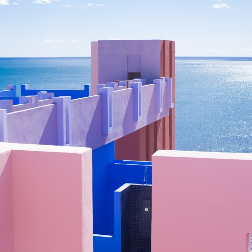 Laberinto con vistas al mar